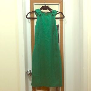 Badgley Mischka green cocktail dress